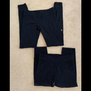 two pairs of black ivivva leggings